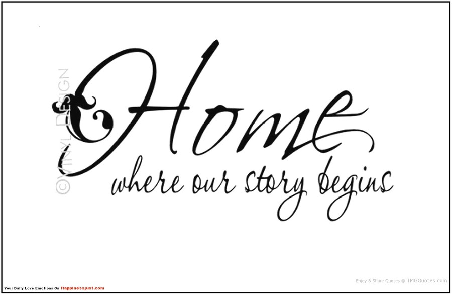 Download home where our story begins clipart Wall decal Picture ...