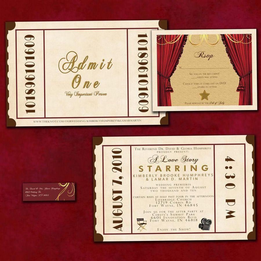 Download movie theater wedding invitations clipart Wedding ...