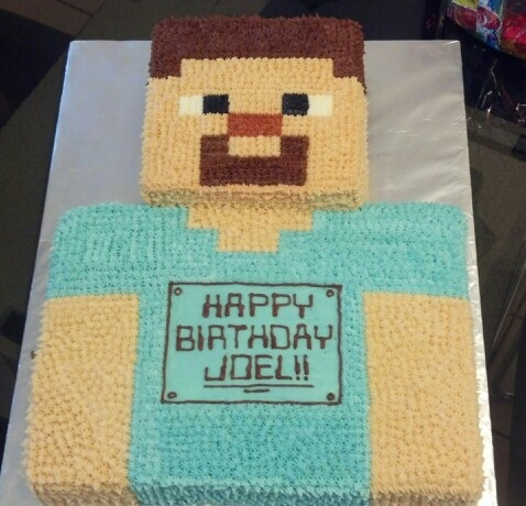 Download Minecraft Steve Head Cake Clipart Cupcake Birthday Product