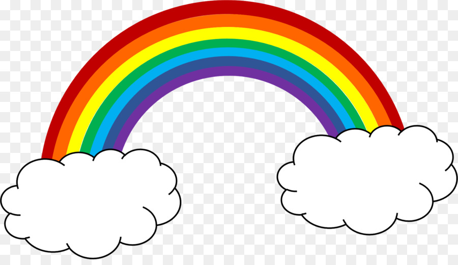 Rainbow cartoon. Clipart line circle graphics
