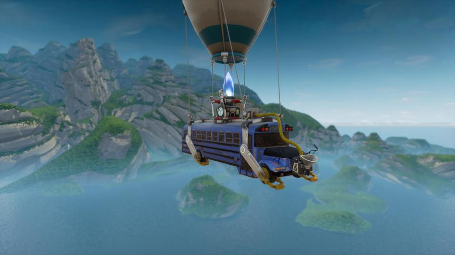 Fortnite Bus Game Sky Water World Png Clipart Free Download
