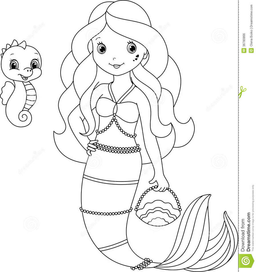 Download mermaid colouring clipart Ariel Colouring Pages Coloring ...