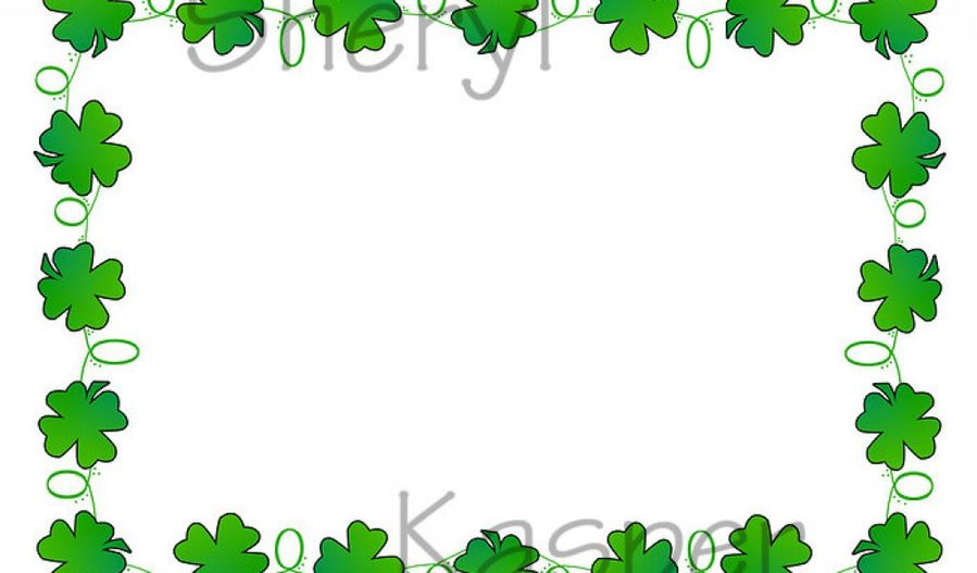 Download four leaf clover border clipart Borders and Frames Four ...