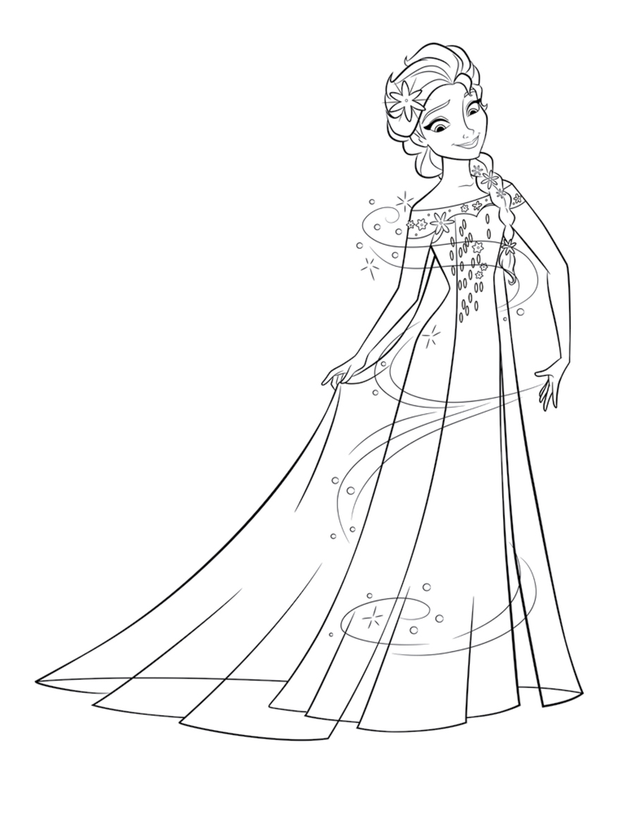 frozen fever coloring pages clipart elsa anna coloring book
