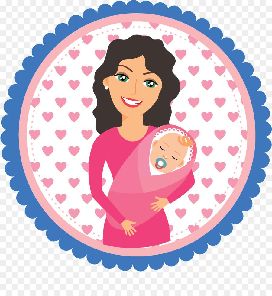 Mother Cartoon Clipart Mother Child Pink Transparent Clip Art