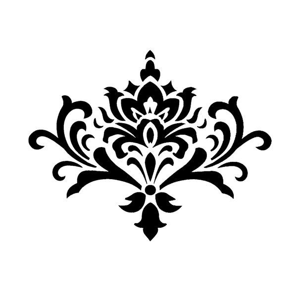 simple damask stencil - 736×736