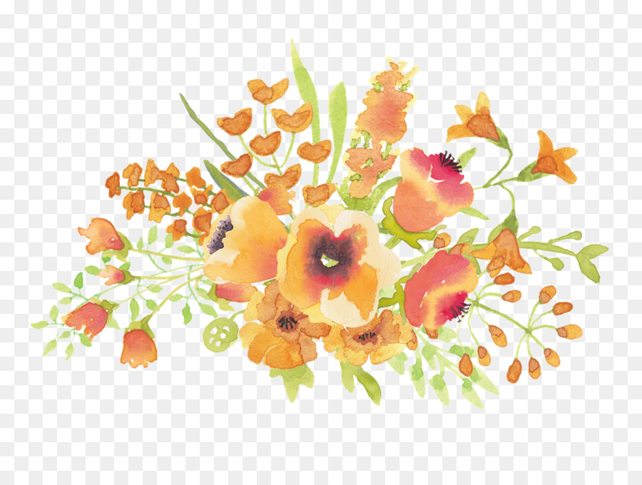 watercolor flowers orange png clipart Watercolor painting Floral design Watercolor: Flowers