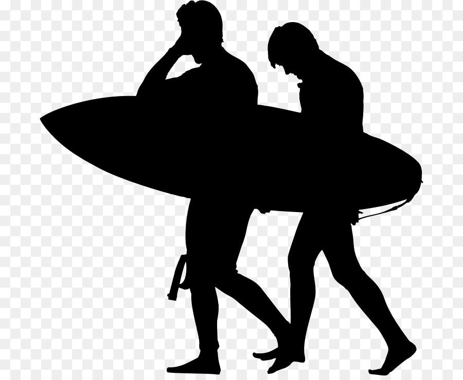 Man Cartoon Clipart Surfing Silhouette Illustration