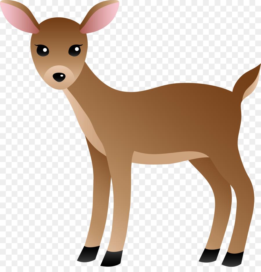 Deer cartoon. Reindeer clipart drawing transparent