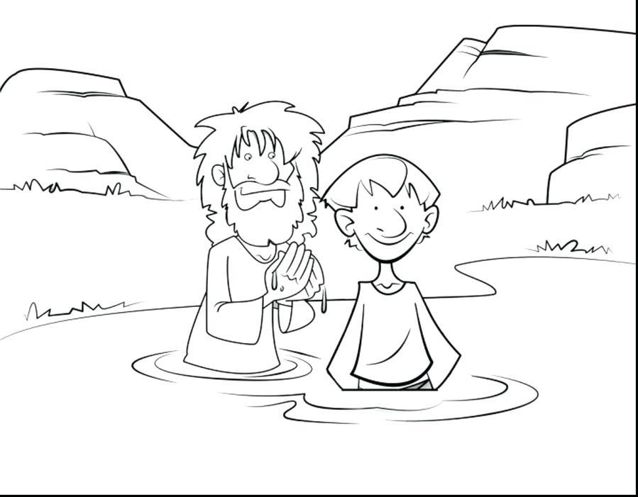 Download san juan bautita para colorear niños clipart Baptism of ...