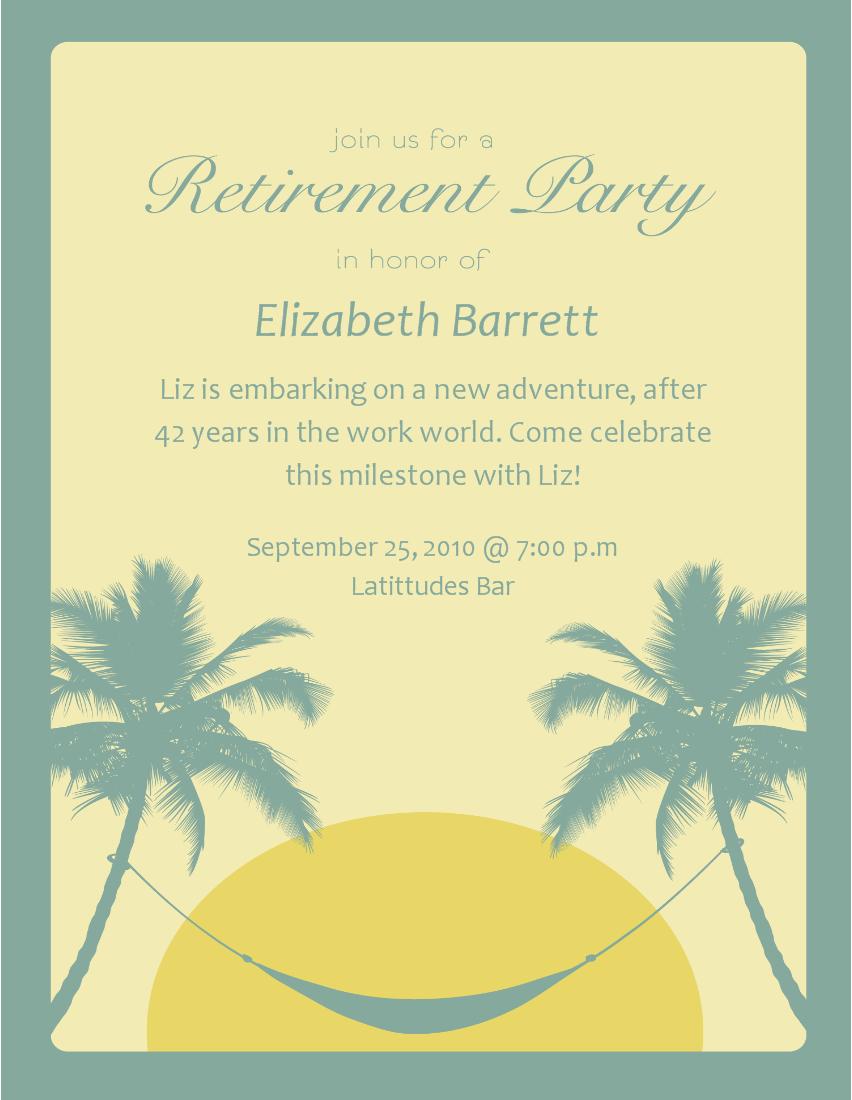 Beach Themed Retirement Party Invitations Clipart Wedding Invitation