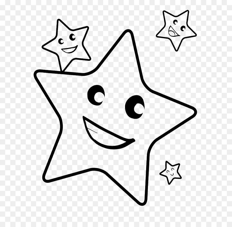 Book black and white clipart drawing child star