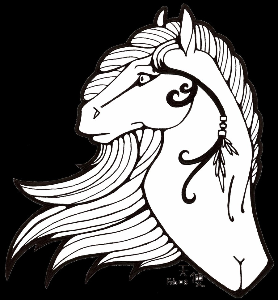 Cool Coloring Pages Of Horses Clipart Horse Head Mask Book