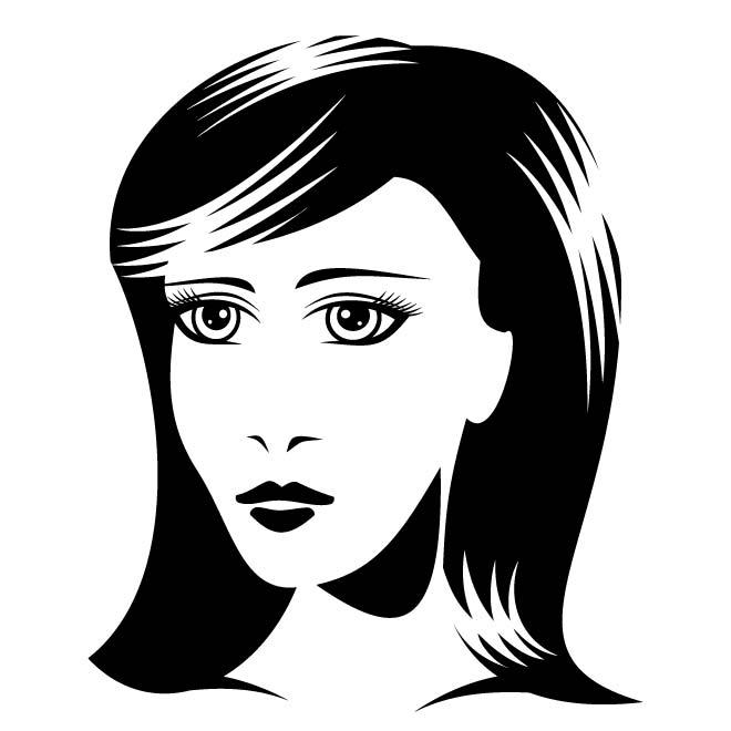 cartoon woman face - 660×660