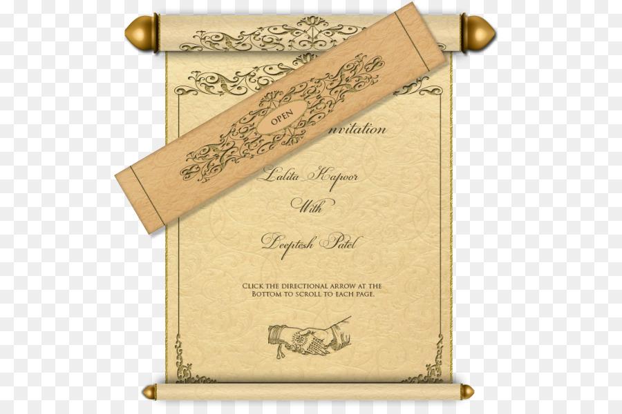 royal scroll clipart Wedding invitation Paper