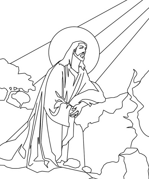 Clipart resolution 638*762 - jesus christ coloring book ...