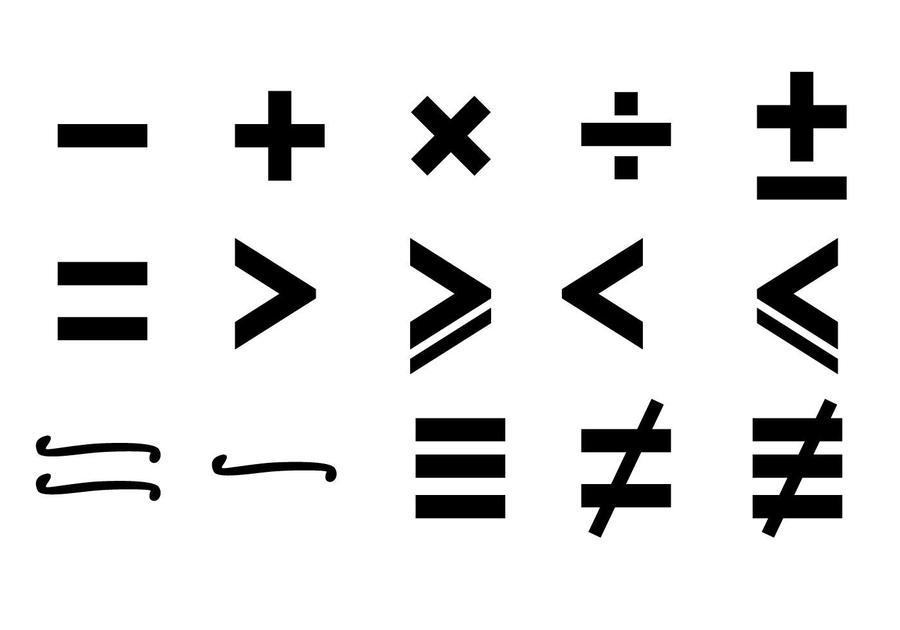 Download Mathematical Symbols Transparent Background Clipart