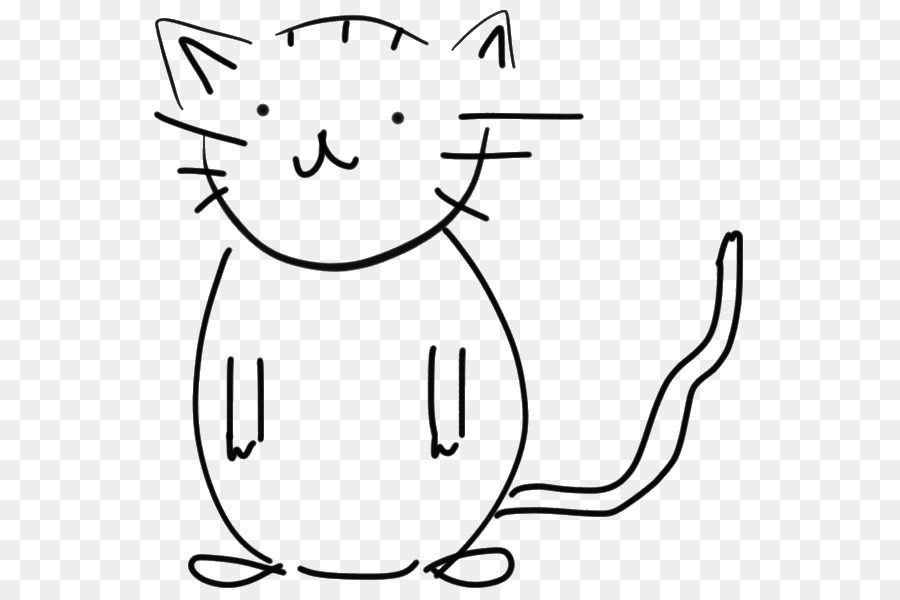 White clipart Whiskers Cat Black and white