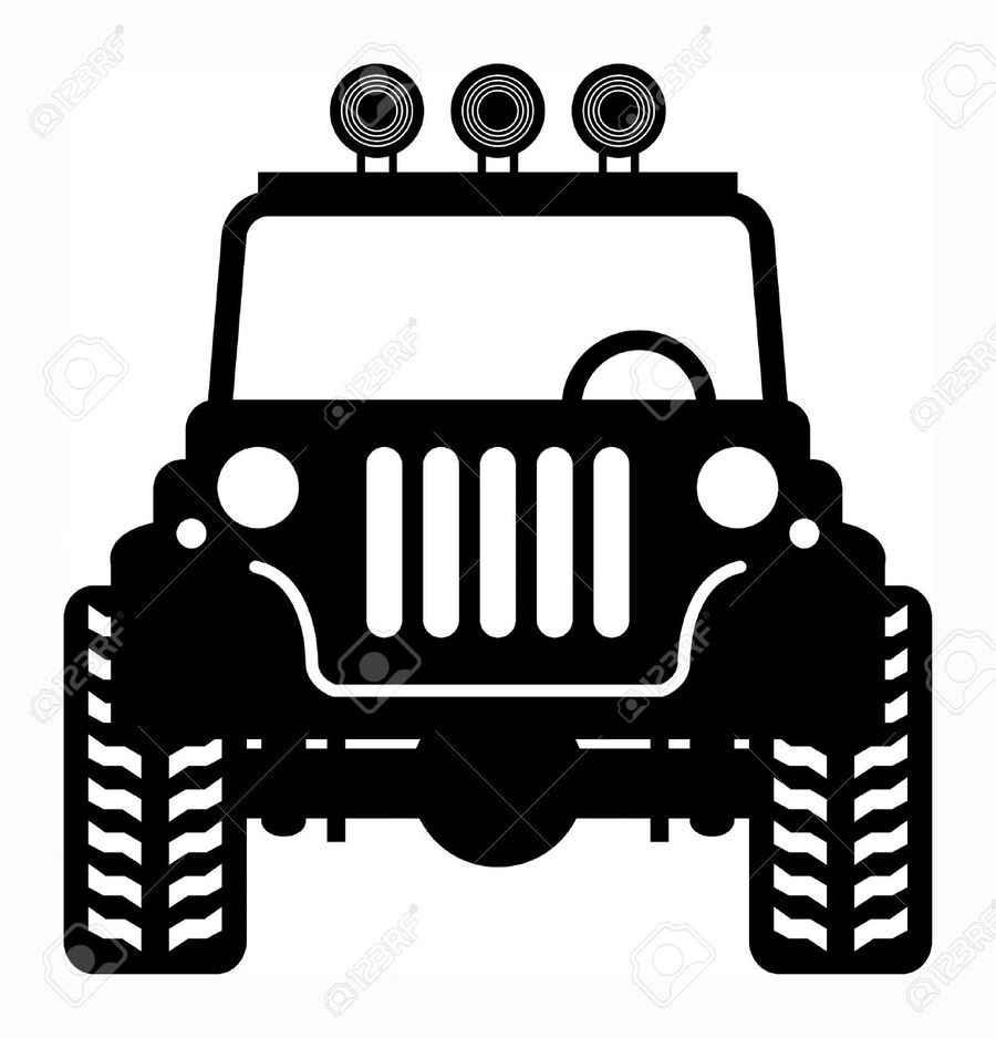 Jeep Wrangler Clipart Black And White All About Outline Source Download Vector Willys Mb Car