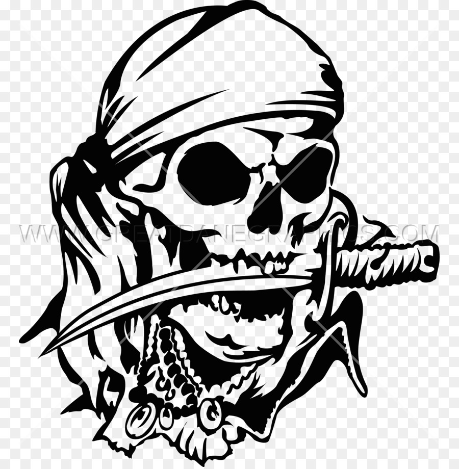 pirate skull black and white clipart Pirate Skull Clip art