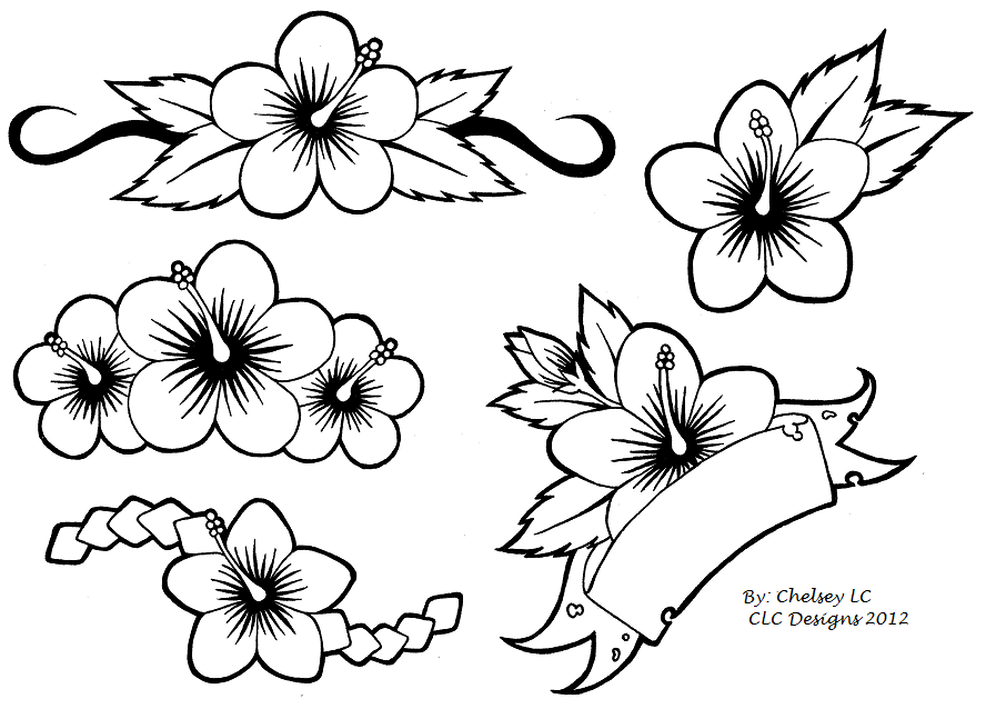 Drawing Flower Design Transparent Image Clipart Free Download