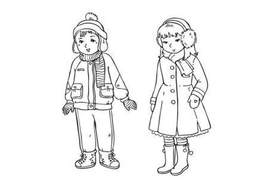Download winter clothes coloring pages clipart Colouring Pages ...