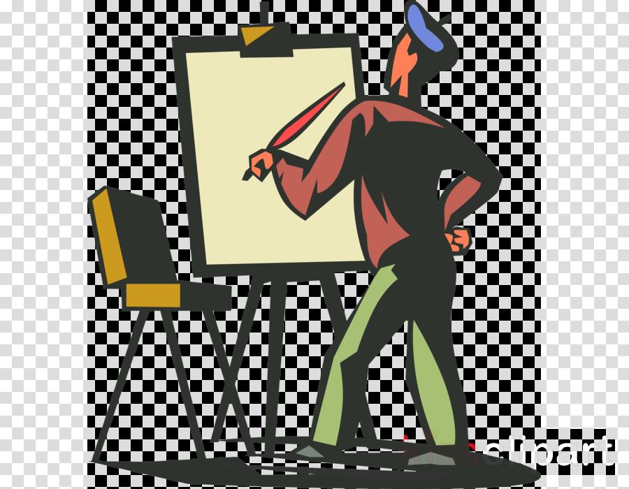 艺术家透明剪贴画艺术家剪贴画