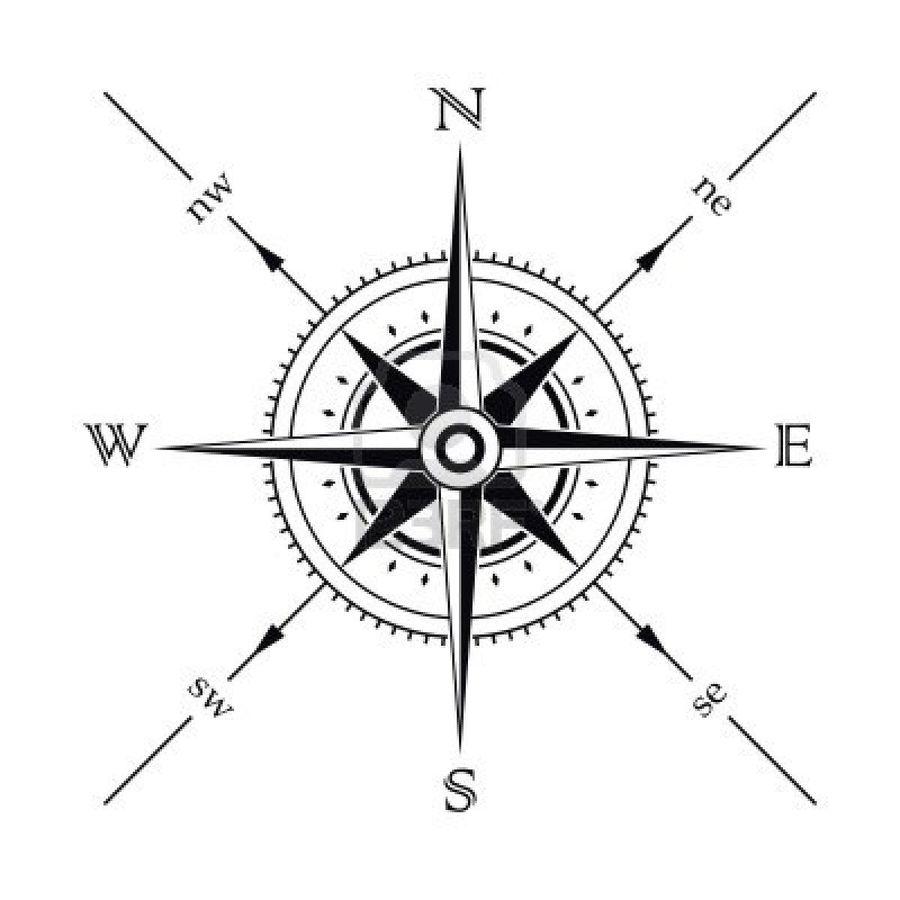 Download compass tattoo design clipart Compass rose Tattoo | Compass ...