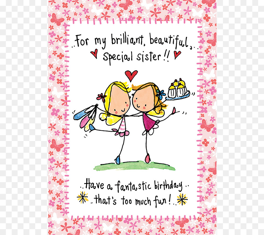 Download Birthday Card For Sisters Clipart Greeting Note Cards