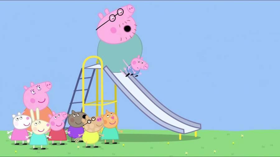 peppa pig clipart george pig santas visit santas grotto