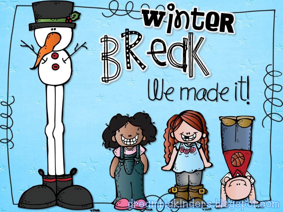 Christmas Break Clipart.Christmas Winter Background Clipart Holiday School