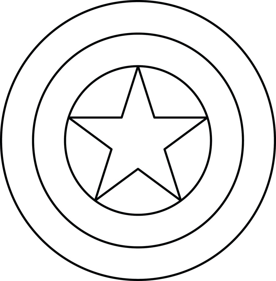 Download captain america coloring pages clipart Captain America\'s ...