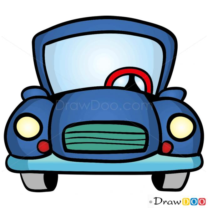 free car cartoon drawing