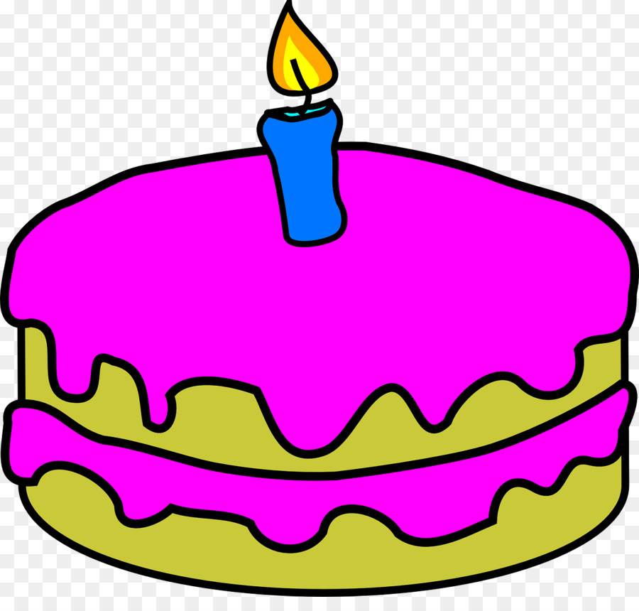 Birthday Cake With One Candle Clipart Candles Clip Art