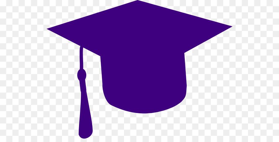 Purple graduation. Cartoon clipart hat cap