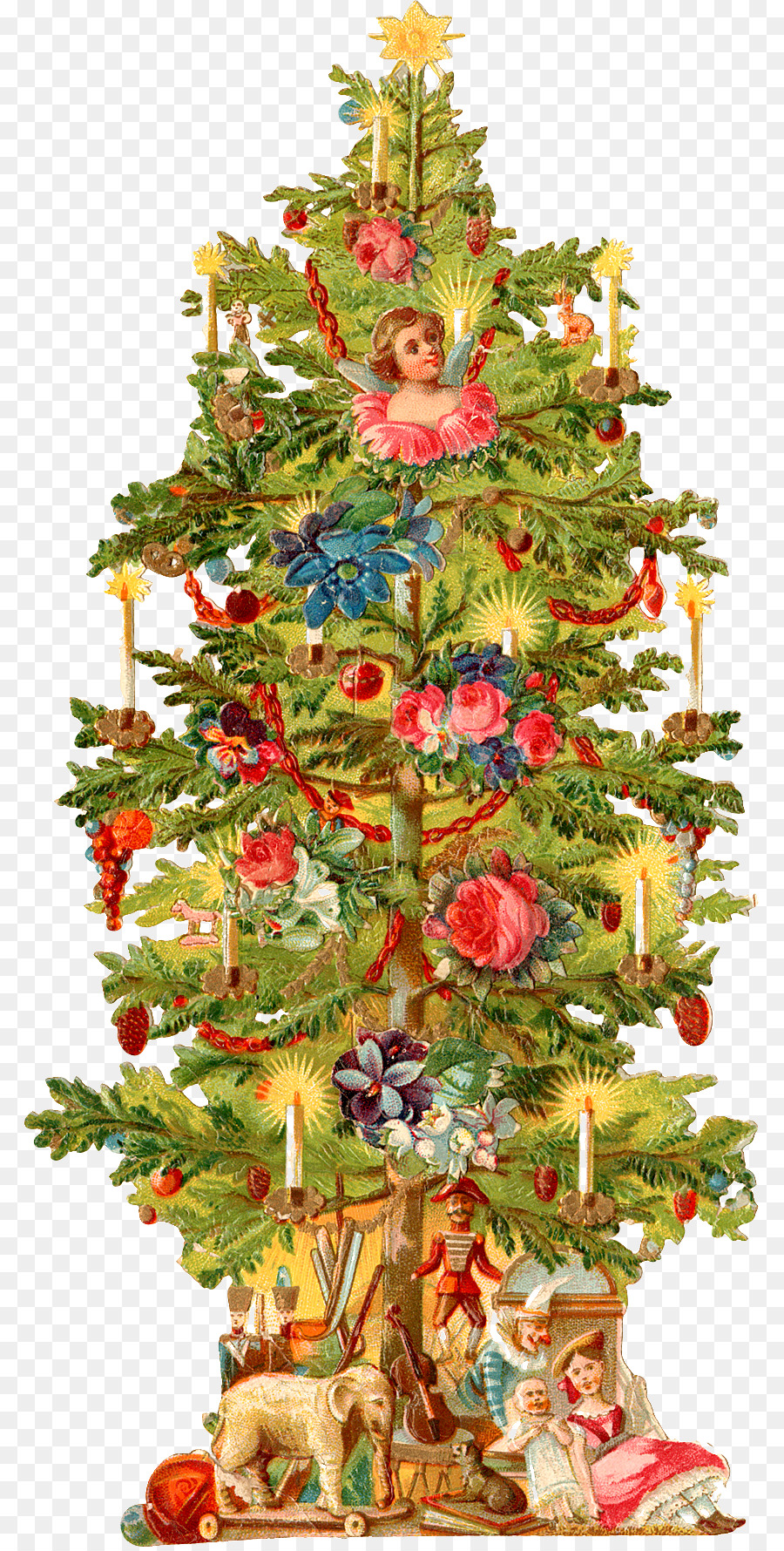 Tree Vintage Christmas Transparent Png Image Clipart Free Download
