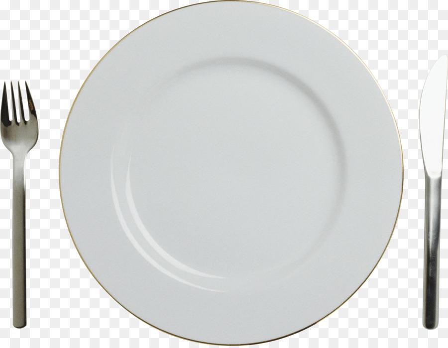 Kitchen Cartoon Clipart Knife Fork Plate Transparent