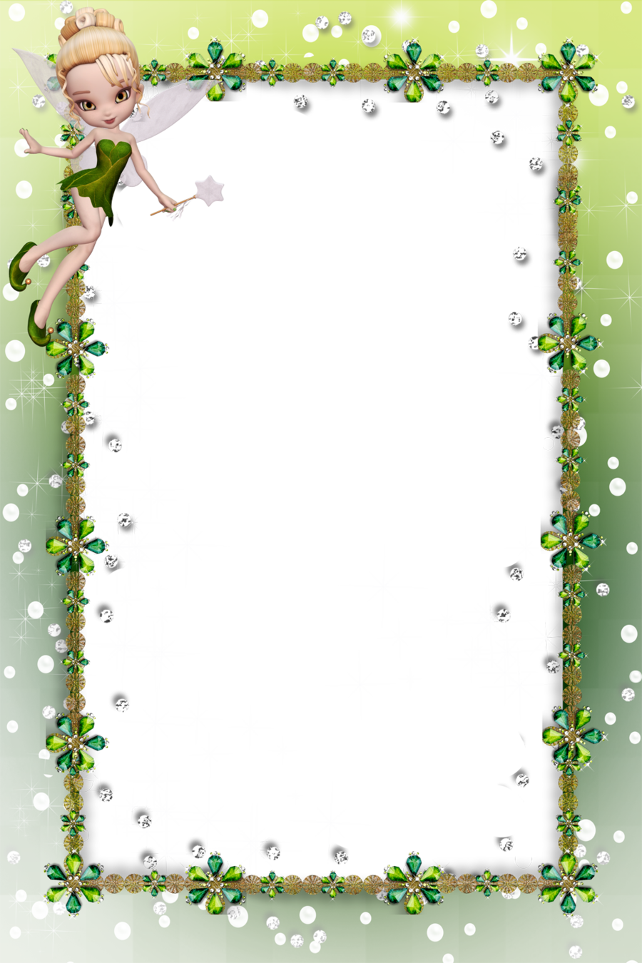 Download fairies border frames clipart Tinker Bell Borders and ...