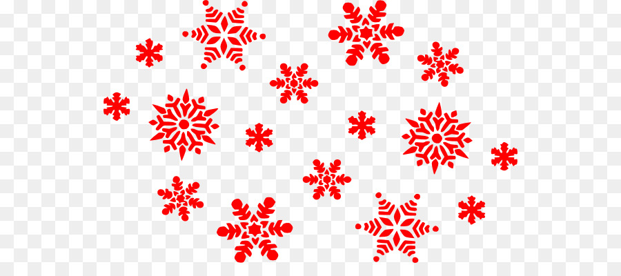 Snowflakes red. Christmas tree clipart snowflake