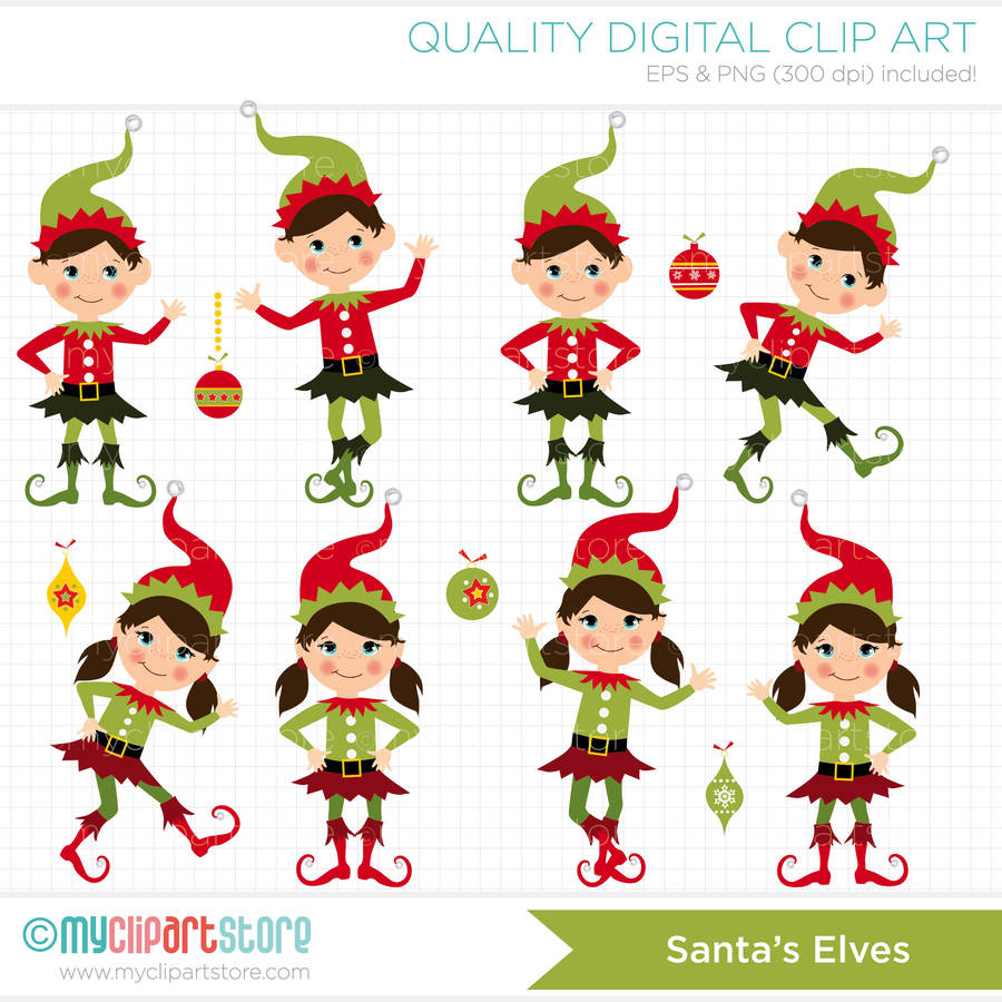 Download santa\'s elves clipart Santa Claus Reindeer Christmas elf ...