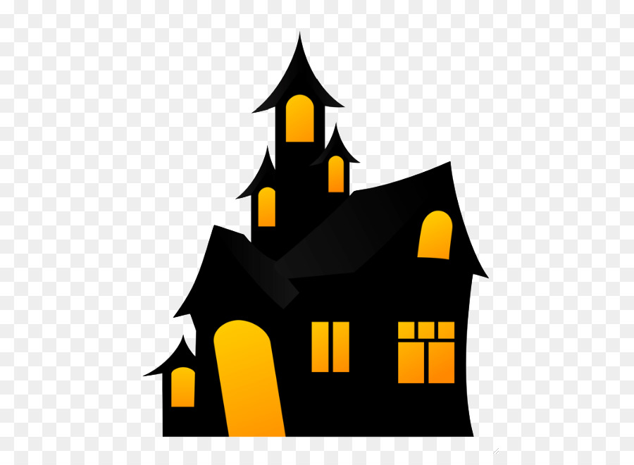 Halloween Haunted House clipart - Halloween, Yellow ...