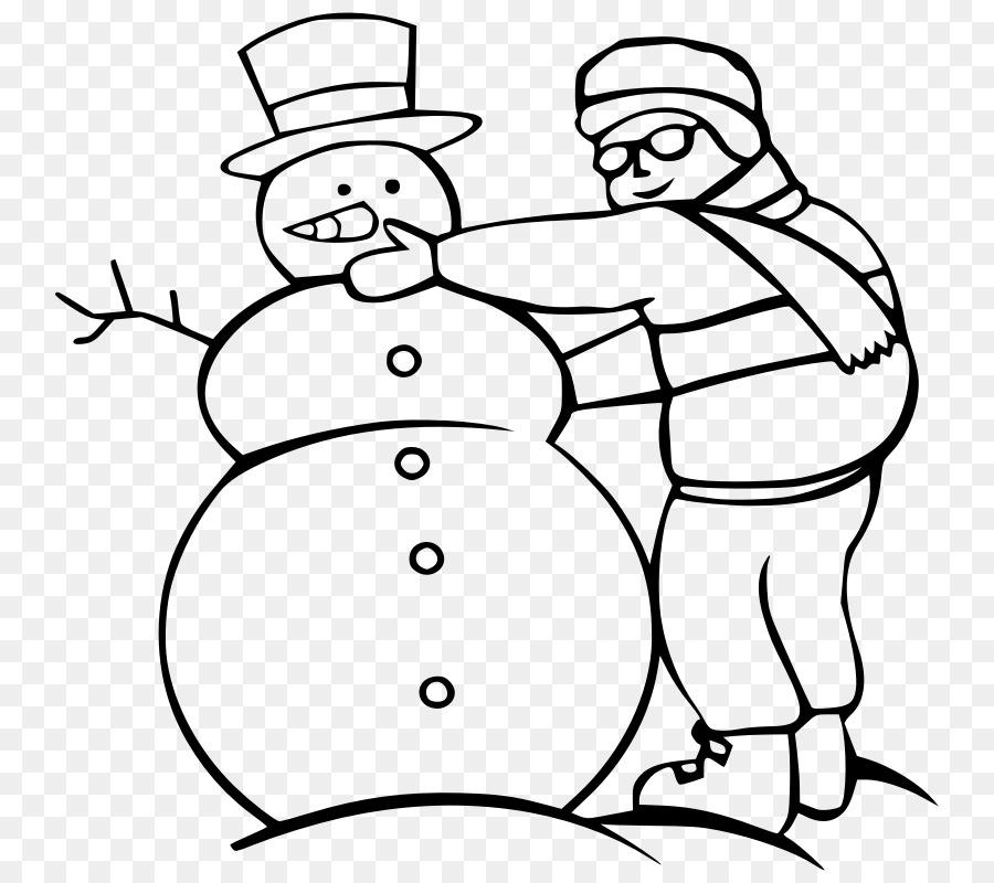 Download schneemann bauen ausmalbild clipart Ausmalbild Snowman Clip ...