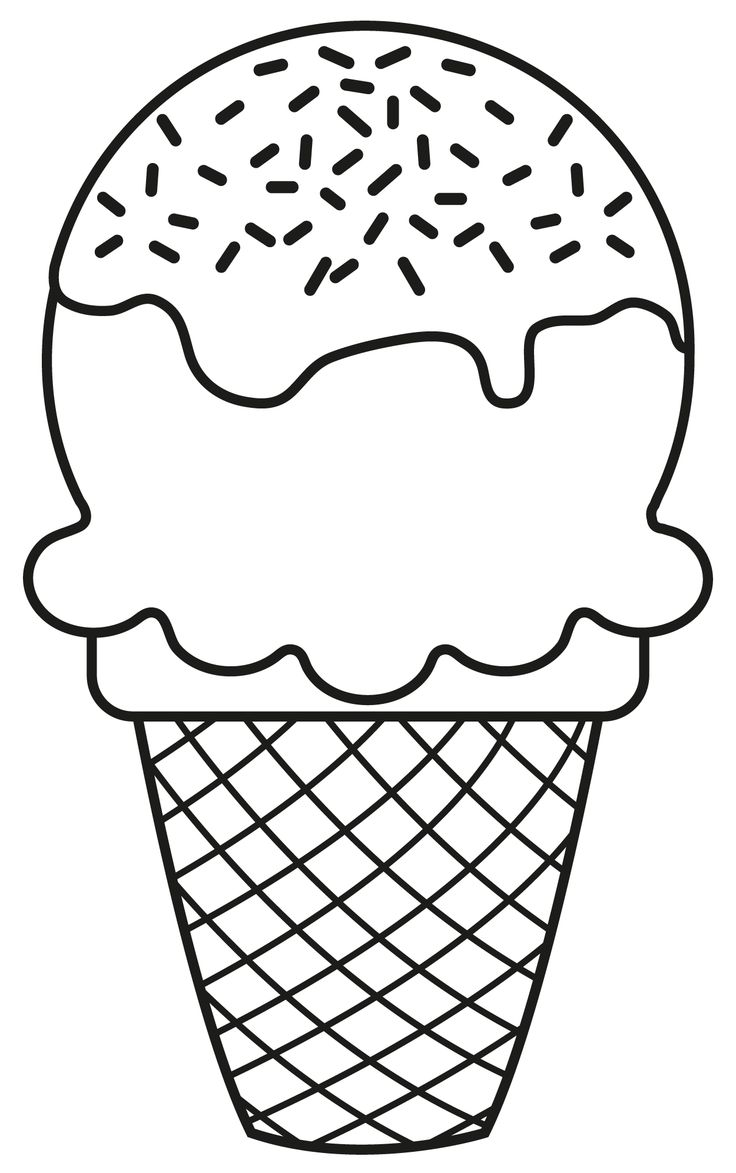 Food black and white. Download ice cream clip