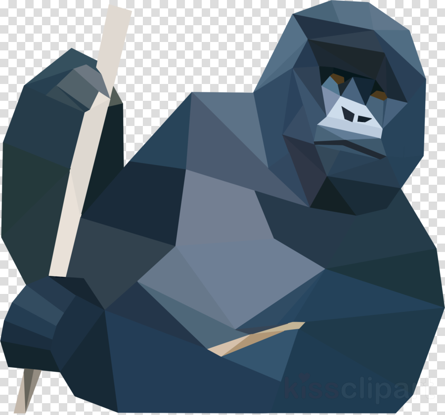 low poly gorilla clipart Gorilla Ape Low poly