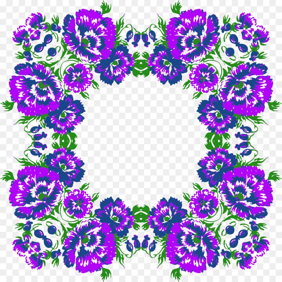 Purple Flower Wreath