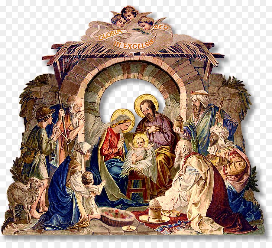 Nativity holy family. Christmas clipart birth religion