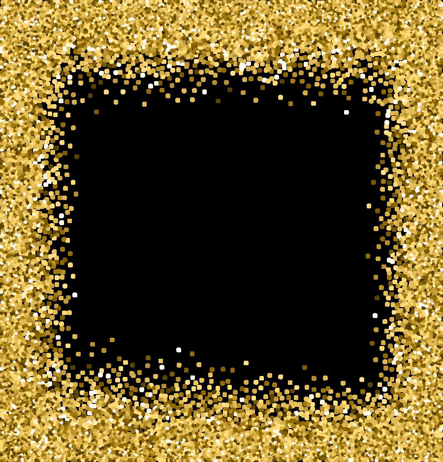 transparent background gold glitter border clipart Clip art