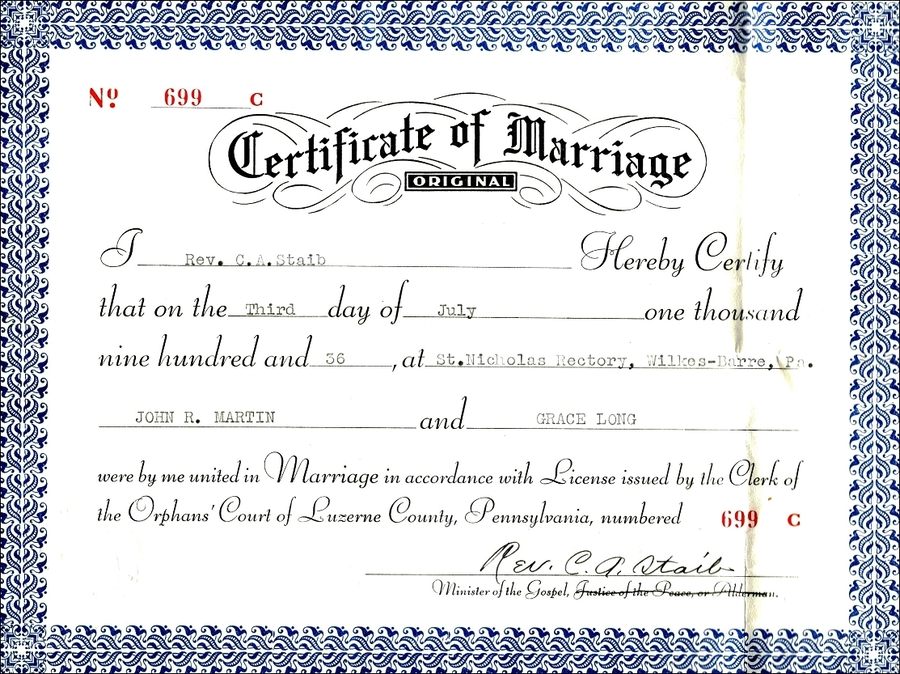 Download Samples Of Marriage Certificates Clipart Marriage