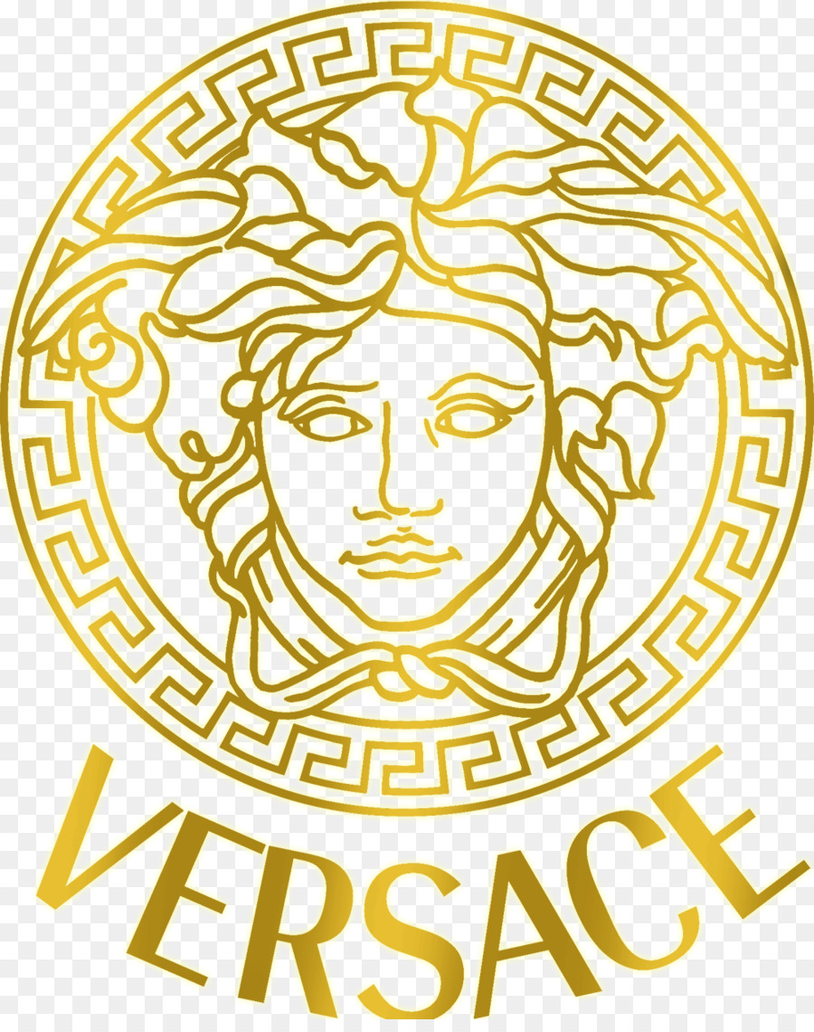 brand new adc4a 09285 Versace Logo clipart - Fashion, Yellow, Text, transparent ...