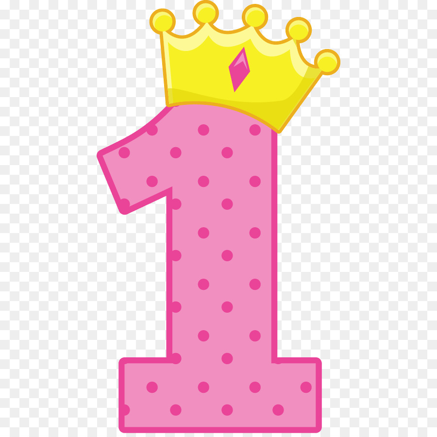 Pink Number 1 With Crown